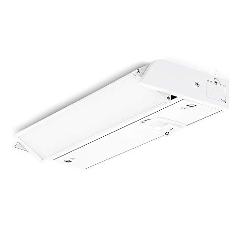 PARMIDA LED Swivel Under Cabinet Lighting, Hardwired or Plug-in Installation, 3 Color Temperature Slide Switch, Rotatable Lens, Dimmable, Linkable, ETL & Energy Star, 3000K-5000K, 120V, 6W – 8 Inch