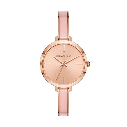 Michael Kors Women's Jaryn Quartz Watch with Stainless-Steel-Plated Strap, Rose Gold/Multi, 8