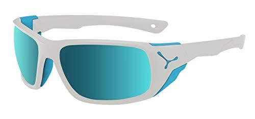 Cébé Unisex's Jorasses L zonnebril, mat wit blauw, groot
