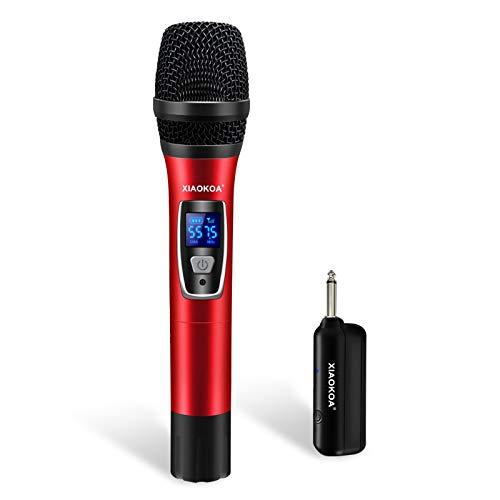 Microfono Senza fili,XIAOKOA Wireless Microphone,Microfono Palmare Wireless con Display Digitale,per Karaoke/Home KTV/Prestazioni All'aperto/Evento Festa