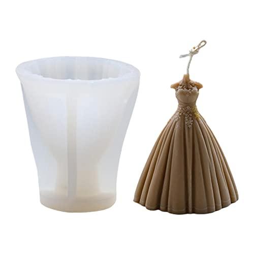 Molde de silicona 3D para velas, forma de vela, forma de silicona, 3D, mágica, molde para manualidades, para la novia, jabón de boda, fabricación de resina aromática, cera aromática