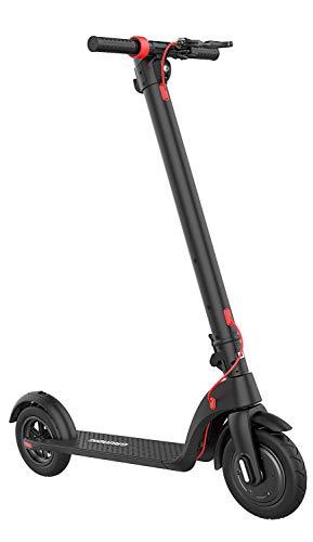 GRUNDIG Elektroroller für Erwachsene(NO ABE), 350W Motor, Austauschbarer Panasonic Akku, LCDDisplay, Faltbarer Roller mit aufblasbaren 10inch Anti-Rutsch-Reifen,Höchstgeschwindigkeit bis zu 25 km/h