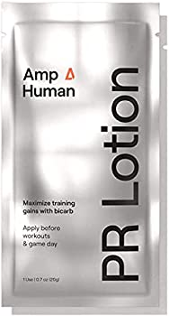 Amp Human PR Lotion Performance & Recovery Bicarb Sports Lotion 5 On-The-go Packets  20g Each