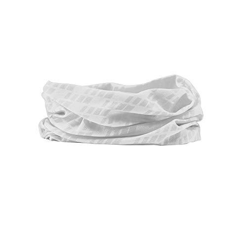 GripGrab Unisex– Erwachsene Fahrrad Multifunktionstuch Schlauchschal Dünnes Leichtes Buntes Halstuch Halswärmer Radsport Wandern Laufen Multifunktionshalstuch, Weiß, OneSize (54-63 cm)