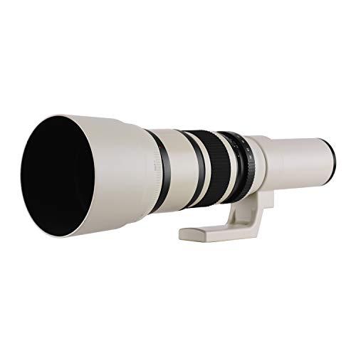Benkeg Lente de Zoom telefoto f6.3 de 500 mm Montura Manual Focus T2 para fotograma Completo/APS-C