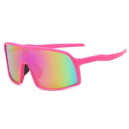 YFCTLM Los vidrios de Ciclo Deportes polarizados Hombres Gafas de Sol Gafas de Ciclismo Gafas de montaña Bicicleta de montaña Protección de la Bicicleta Eyewear 3 Lente (Color : Pink FR Purple FL)