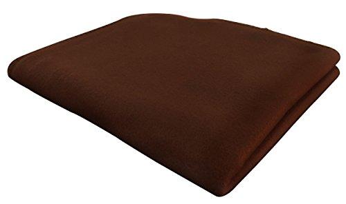KiGATEX Polar-Fleecedecke in vielen Farben 130x160 cm pflegeleicht für Innen oder Außen (Schoko)