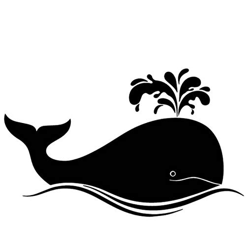Empty 3 Pcs Car Stickers 17.2CM*10.6CM Cartoon Whale Vinyl Waterproof Decal for Laptop Motorcycle Bicycle Luggage Decal Graffiti Patches Window Decorations