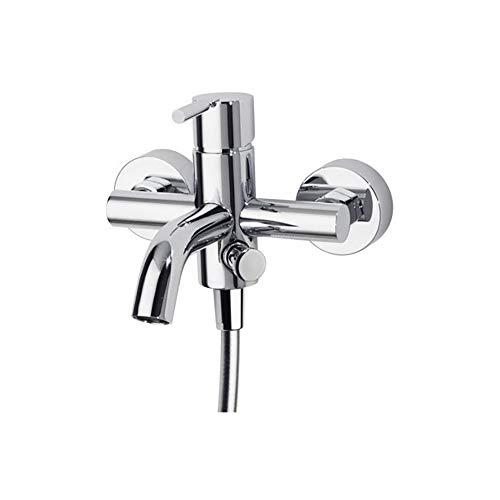 Ramon Soler 251628 - Grifo de bañera (sistema S2 de ahorro de agua del 50 %, termostop limitador de temperatura y sistema anticorrosión patentado cromado) Diamond Finish
