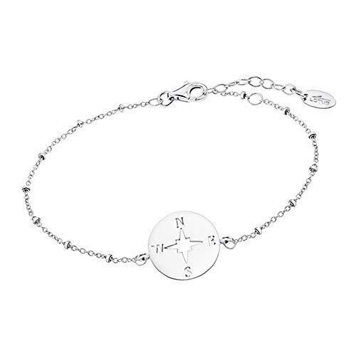 Lotus Silver Pulsera de brújula LP1956-2/1 de plata 925 para mujer JLP1956-2-1