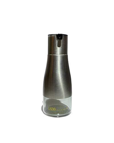 TIJOLIVA Aceitera y Vinagrera Antigoteo Cristal y Acero Inoxidable