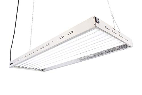 T5 HO Grow Light - 4 FT 8 Lamps - DL8048 Fluorescent Hydroponic Indoor Fixture Bloom Veg Daisy Chain with Bulbs