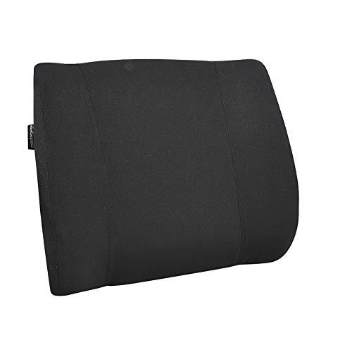 Amazon Basics - Almohada viscoelástica con apoyo lumbar, negra, con paneles