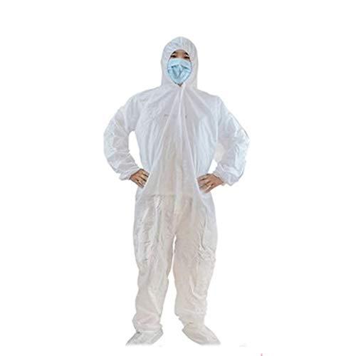 Beschermende kleding Kleding Niet-poreuze ventilatie Polypropyleen Wegwerp ketelpak Overall Overall laboratoriumjas,XXL