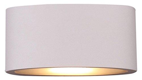 Vision-EL 77038 Applique Murale LED, Aluminium/PMMA, Blanc, (H x L x P)-140 x 70 X 40 mm