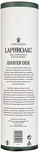 Laphroaig Quarter Cask Islay Single Malt Scotch Whisky, mit Geschenkverpackung, in Quarter Casks gereift, 48% Vol, 1 x 0,7l - 4