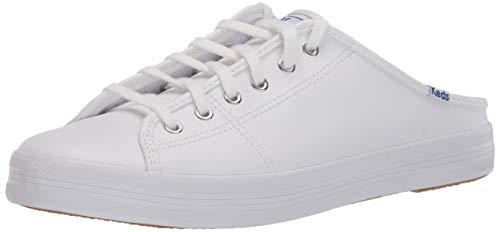 Keds Women's Kickstart Mule CORE Leather Sneaker, White, 7 M US