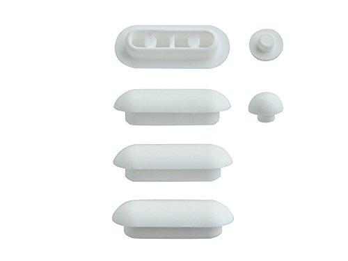 SITZPLATZ® WC-Sitz-Puffer Nr. 20   Auflagestopfen für Toilettensitz   Abstandhalter für WC-Brille   Dämpfer   Weiß   Kunststoff