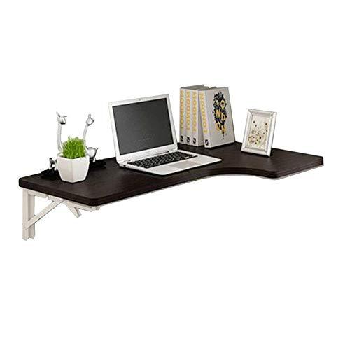WTT - Wandgemonteerde houten klaptafel, zwarte hoektafel, opklapbare eettafel en computerbureau, ruimtebesparend (afmetingen: 80x60x40cm)