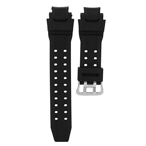 Correa de reloj de cuero generosa, correa de reloj negra agradable para la piel, GA-1000/1100 ajustable suave resistente al desgaste para G SHOCK