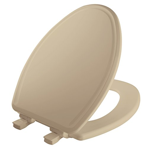 MAYFAIR 1848SLOW 006 Toilet Seat will Slow Close, Never Loosen and Easily Remove, ELONGATED, Durable Enameled Wood, Bone