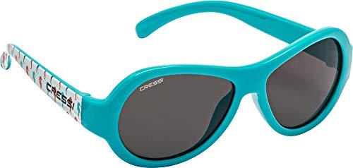 Cressi Scooby Kid's Sunglasses, Occhiali da Sole Unisex Bambino, Azzurro/Cavalluccio/Lenti Fumè, 0-2 Anni