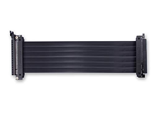 Phanteks PH-CBRS_FL30 - Cavo riser Pci-E X16 300 mm, adattatore 180 gradi, design sottile, emi schermato, compatibile con Enthoo Elite Chassis