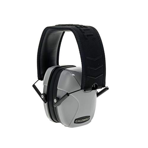 Caldwell Passive - ADULT Gray - Low Profile 23 NRR Hearing Protection - Adjustable Earmuffs for Shooting, Hunting, Range