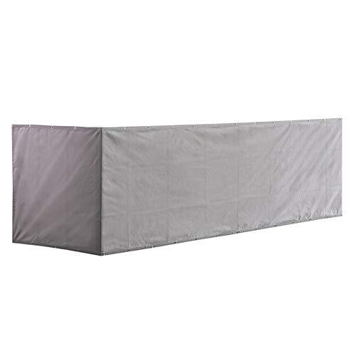 PW TOOLS Housse pour écran d'intimité de Balcon, 500 x 90 cm, Bouclier d'intimité, Protection UV