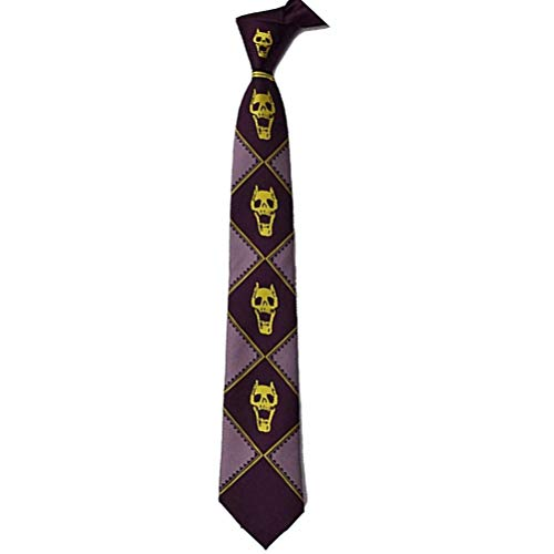 Lonme Neckties JoJoJo's Bizarre Adventure Killer Queen Kira Yoshikage Totenkopf Krawatte Cosplay Kostüme (lila)