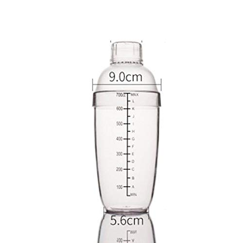 Clear Bar Shaker Professional Bartender Cocktail Shaker (700cc)