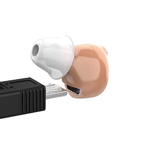Oplaadbare gehoorapparaat multichannel CIC hoortoestel, Kleine sound collector accessoires, frequentiebereik 200Hz-6000Hz