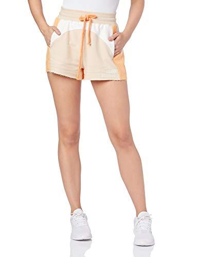 Colcci Fitness Shorts Moletom Recortes, P, Laranja Moveon