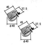 旧立山アルミ部品 引違い窓 戸車:戸車(下かまち)[TO107] [SI]シルバー