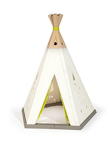 Smoby 811000 - Tipi - Spielzelt für drinnen und draußen, höhenverstellbar, pflegeleichtem Kunststoff, leichte Montage, für Kinder ab 2 Jahren