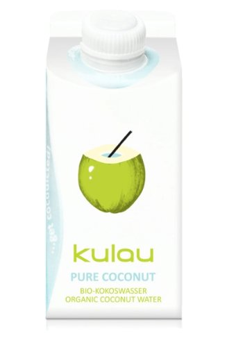8 x 330ml KULAU Pure Coconut - reines Bio-Kokoswasser