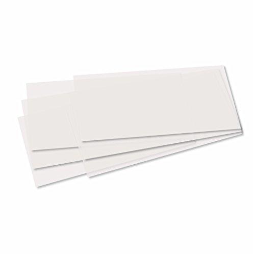 Laternenzuschnitte 115g/m³ 22 x 51 cm 10 Bogen weiss Transparentpapier für Laternen zum basteln