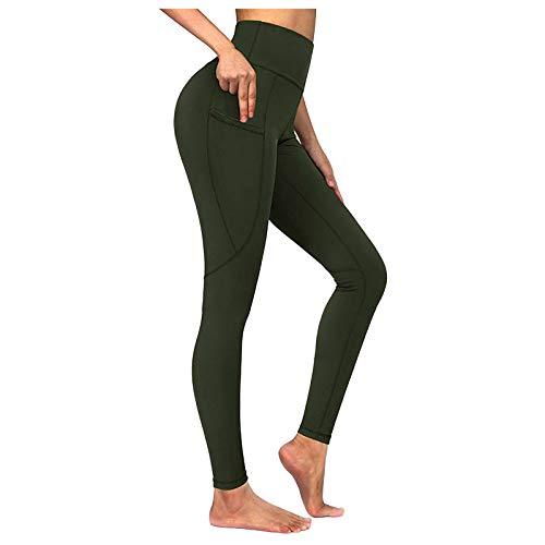 Ansenesna Leggings Damen Sport Tasche Jersey Elegant Yoga Hose Frauen High Waist Stretch Skinny Gummizug Sporthose