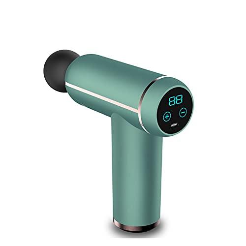 NGLWA Pistola da Massaggio Portatile per Tessuto Profondo, Pistola per Massaggi Muscolari Percussioni per La Schiena Massaggiatore (Color : Green, Size : A)