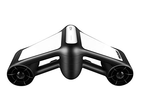 G GENEINNO Geneinno Underwater Scooter Dual Propellers with 2-Speed Compatible with GoPro White