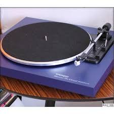 Thorens Q80392 Audio- - Plattenspieler (Audio-Plattenspieler mit Riemenantrieb, Fully Automatic, Blau, Aluminium, 33 1/3,45, DC Motor)