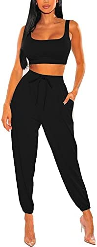 2 piece outfit pants and crop top _image3