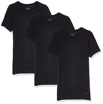 Polo Ralph Lauren Slim Fit w/Wicking 3-Pack Crews Black/Rl2000 Red Pony Print LG
