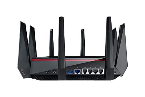 Asus RT-AC5300 Gaming Router (Ai Mesh WLAN System, WiFi 5 AC5300, Gaming Engine, 4x Gigabit LAN Link Aggregation, App Steuerung, AiProtection, Multifunktion USB 3.0)