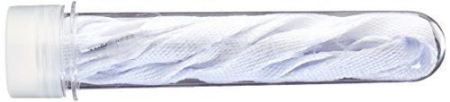 Tubelaces White Flat Schnürsenkel, Weiß (White) 81-90 cm, 5er Pack