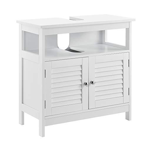 [en.casa] Badezimmerschrank mit Ablagefläche - Weiß - 60 x 60 x 30cm - Unterschrank Waschtisch Badmöbel