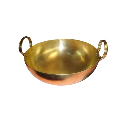 Thai Wok Brass Pan Home Cooking Food and Dessert for Thai Chinese Japanese Korean Restaurant - Size 8' Durable and Great Heat Control