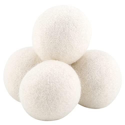 MOUMOUTEN 6 Bolas de Lana, 6 cm de Secado de Bolas de lavandería para Absorber el Agua para...