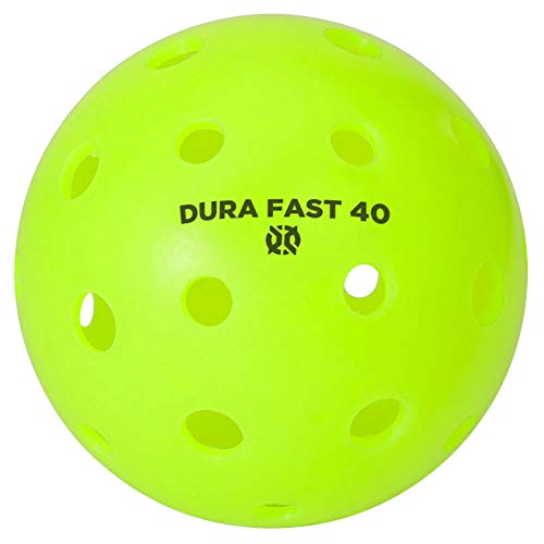 Dura Fast 40 Pickleballs | Outdoor pickleball balls | Neon | Pack of 6 | USAPA Approved and Sanctioned for Tournament Play, Professional Perfomance