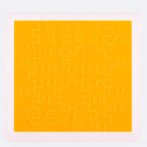 Jigsaw Puzzle 29 Piece, Adult Children Jigsaw Puzzle Board Super Difficult Irregular Acrylic Jigsaw Puzzle Plastic Jigsaw Puzzle, Stress Relief Toy Birthday Gift,Yellow